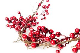 6 Foot Red Berry Garland - Perfect to Bring Holiday Cheer into Your Home This Se image 2