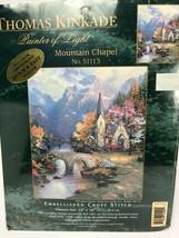 Candamar Thomas Kinkade Embellished Cross Stitch Kit Mt. Chapel New 2002... - $34.64