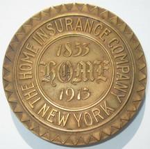 HOME INSURANCE Co. New York- 60 Year Anniversary Mark/Medallion- 1913 MEDAL - $59.39