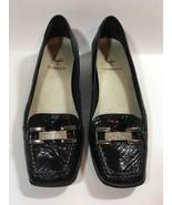 Women's 9 M Liz Claiborne Dominique Black Flats Shoes - $18.25