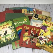 Antique Vintage Childrens Coloring Book Lot Crafting Paper Ephemera - $11.13