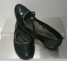 Cole Haan Air Black Leather Slip On Women's sz 8 B MaryJane Loafers Driv... - $44.55