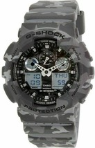 New Casio G-Shock GA100CM-8A Camouflage Grey Watch  - $85.58