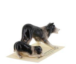 Hagen Renaker Dog Border Collie and Pup Ceramic Figurine Set image 7