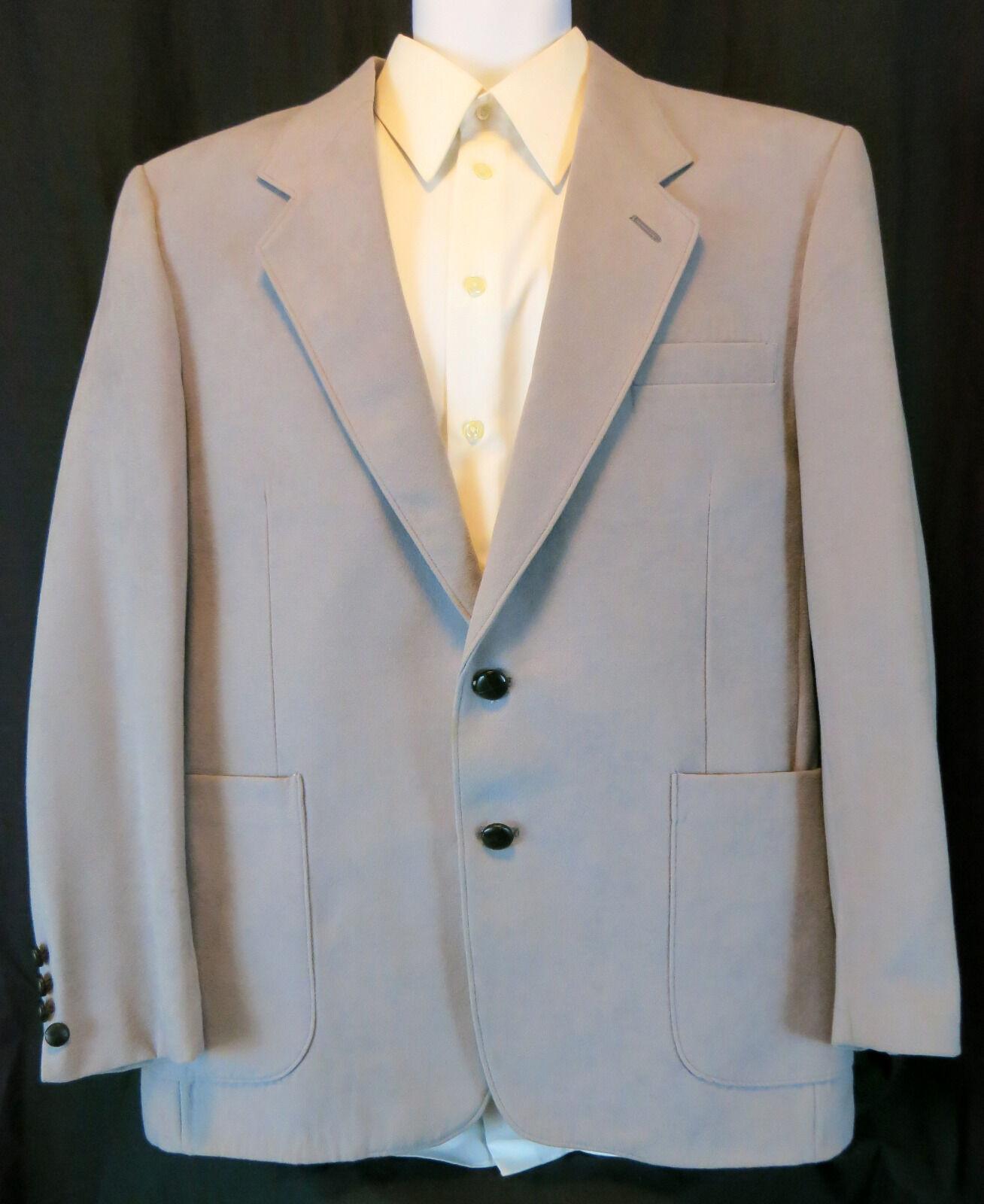 Levi's Sportswear Lt Blue/Gray 2 leather buttons 44R Blazer - $11.88