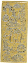 religious theme gold sheet of peel off stickers  ideal cards, papercraft,