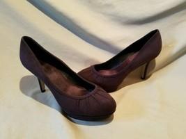 Nine west 9 M pumps susaynah heels soft black dark gray nubuck suede ple... - €32,14 EUR