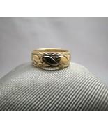 14K Yellow Gold Ring Designer Frederick Goldman FG Antique Scroll Band ... - $296.99