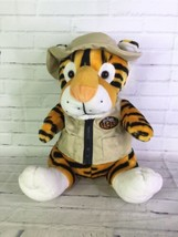 Six Flags Safari Tiger With Outfit Vest Hat Sitting Plush Stuffed Animal... - $49.49