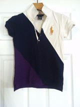 RALPH LAUREN TEENAGE GIRLS PRE-OWNED MLTCOLOR 100%COTTON POLO SHIRT SZ:L... - $28.20