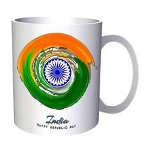 India day circular watercolors 11oz Mug g318 - $217,28 MXN