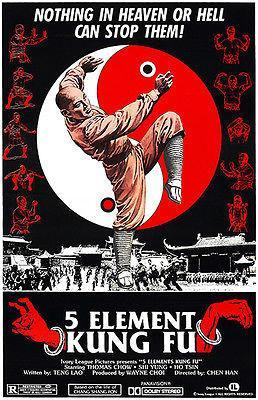 Primary image for 5 Element Kung Fu - 1978 - Movie Poster