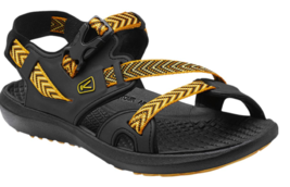 Keen Maupin Men's Sandals Size US 9 M (D) EU 42 Raven Black / Golden Yellow