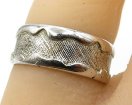 BEAU 925 Sterling Silver - Vintage Modest Titanium Band Ring Sz 6 - R4495 - $37.45