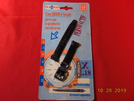 18MM, Swatch Watch, Black Plastic/Vinyl Replacement Band. New-Old Stock. Carded. - $9.99