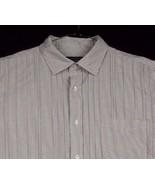 Ralph Lauren Polo Jeans Co White Gray Striped Shirt Men Pleated XL NWT - $24.99