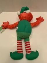 "Elmo Rare Vintage Christmas Elf Sesame Street Mattel Plush 2007 18""H tag image 2"
