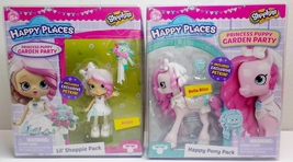 Shopkins Bridie & Bella Bliss Lil' Shoppie Princess Puppy Garden Happy P... - $375,45 MXN