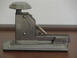 Vintage 1930s Neva-Clog Stapler Model D-30 Patent Applied For Art Deco S... - $79.99
