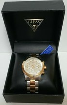 GUESS Men's Chronograph Two-Tone Wristwatch Model U0123G1 . watch . time . New! - $116.99