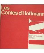 Libretto Les Conte d'Hoffman Metropolitan Opera House Program Offenbach  - $19.79