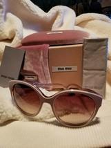 Miu Miu SMU 03N 56 18 HAF 651 140 3 N Sunglasses Sunnies - $312.88