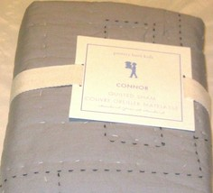 Pottery Barn Kids Connor Quilted Sham Grey /Gray Standard Pillow Reverses Navy - $28.69