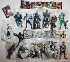 Masked Rider Kamen Figures x 14 2002 2003 Japan Bandai Snap Together Fig... - $69.62
