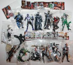 Masked Rider Kamen Figures x 14 2002 2003 Japan Bandai Snap Together Figures - $69.62