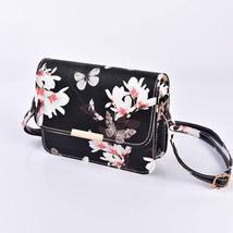 Women Floral Shoulder Bag Small Messenger Bag Retro Butterfly Clutch Tote Purse image 4