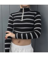 Fashion Casual Women Ladies Casual Blouse Long Sleeve Summer Striped Fas... - $37.50