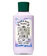 Bath & Body Works Lavender & Cotton Flower Super Smooth Body Lotion 8 oz... - $14.00