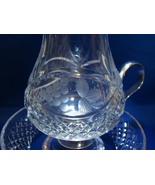 Crystal Chamber Light Tea Light Candle Holder with Silver Plated Handle  - $6.90
