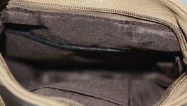 Non Branded Womens Tan Zipper Saddle Bag Purse With Adjustable Shoulder Strap image 6