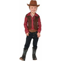 New Little Cowboy Halloween Costume Boys Small 4-6 Shirt Only Hat Not Included - £8.32 GBP