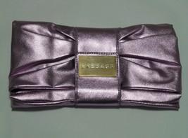 VERSACE Perfume Ultra Femme Metalic purple Clutch Evening Bag Purse Wall... - $27.87