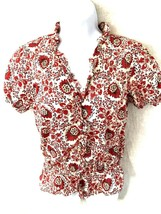Lauren Ralph Lauren Womens Top S Floral Red small - $24.74