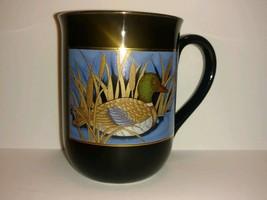 Otagiri Coffee Mug Cup Black With Mallard Duck Gold Trim - collectible - tea - $22.76