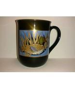 Otagiri Coffee Mug Cup Black With Mallard Duck Gold Trim - collectible -... - $22.76