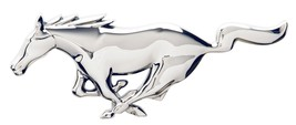 Mustang Pony Chrome Look - Steel Metal Sign - Super Size - $199.95