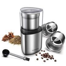 SHARDOR Electric Coffee Grinder, Spice Grinder, 2 Removable Bowls with S... - $80.47