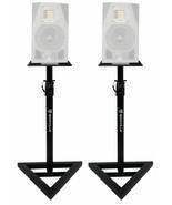 2 Rockville Adjustable Studio Monitor Speaker Stands For ADAM Audio A3X ... - £73.31 GBP