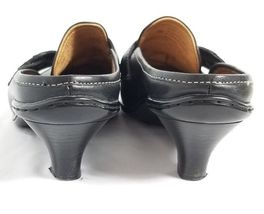 Sofft On Mules Black 5M Slip Loafers Leather 9 Clogs rr4Rq