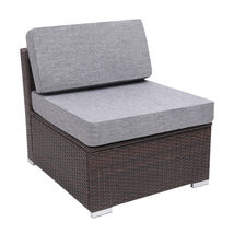 7 Pieces Patio PE Wicker Rattan Corner Sofa Set image 8