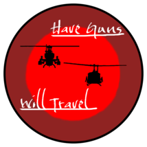 USMC HML-167 Warriors Have Guns Will Travel Patch Sticker  - $1,000.00