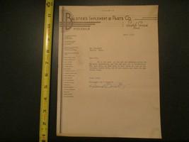 Balsters Implement Parts Scotch Grove Iowa IA 1942 Letterhead 299 - $10.99
