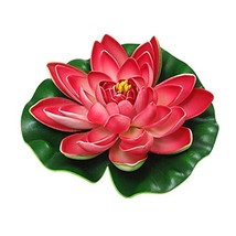 Roberts Artificial EVA Lotus Floating Water Lily Blooming Mini Foam Flow... - $5.99