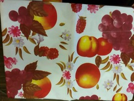 "Tablecloth Vinyl Flannel Back, 52"" X 70"" OBLONG (4-6 ppl) FRUITS by RL - $15.83"