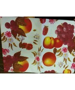 "Tablecloth Vinyl Flannel Back, 52"" X 70"" OBLONG (4-6 ppl) FRUITS by RL - $15.83"