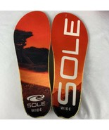Sole Insoles Footbed Red Orange Cork Size US M-12 W-14 Replacement Custom - $29.99